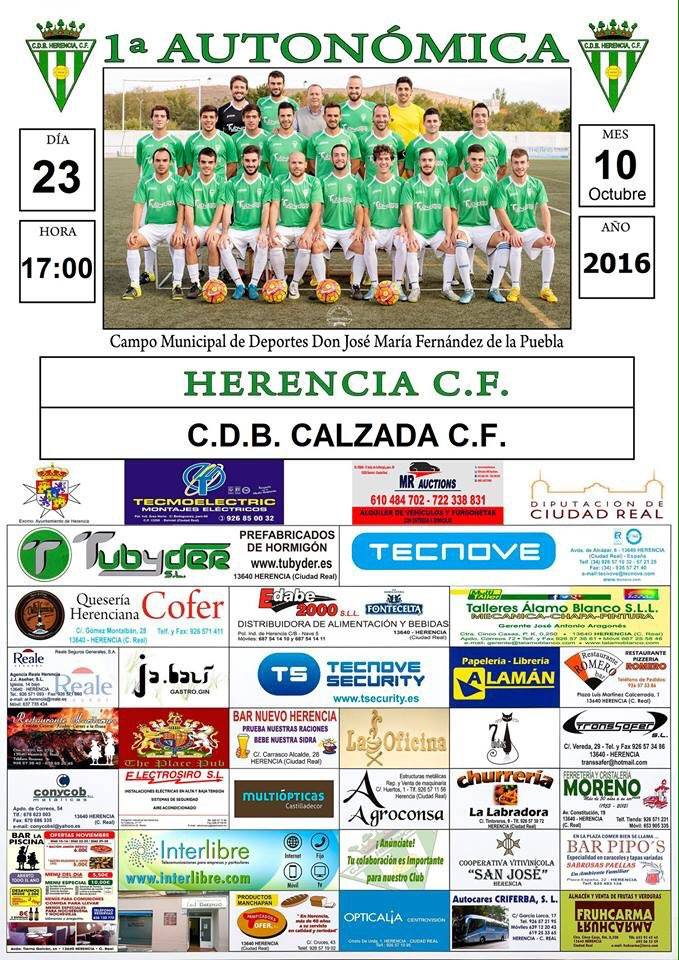 futbol herencia calzada el 23 octubre 2016 - Partido de fútbol entre Herencia CF - CDB Calzada CF el 23 de octubre