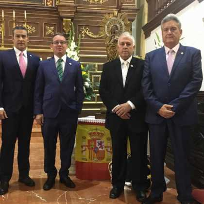 populares en acto de guardia civil 420x420 - Herencia celebró la festividad de la Guardia Civil