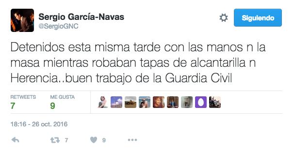 robar tapas alcantarilla - Detenidos mientras robaban tapas de alcantarilla en Herencia