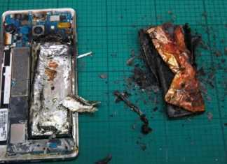 Móvil Samsung Galaxy Note 7 explosivo incendiado.
