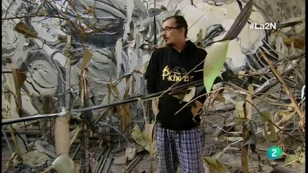 Antonio Laguna Cabezuelo - Antonio Laguna Cabezuelo pinta cuatro murales para la Diputación