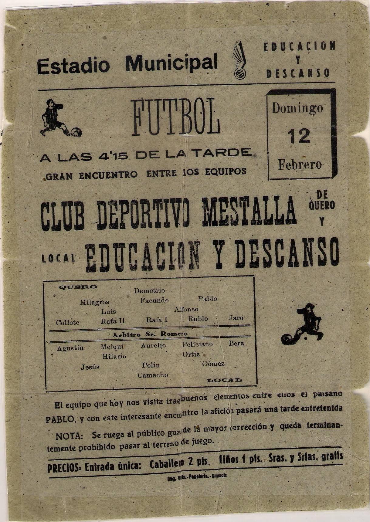 Cartel futbol herencia - El Herencia C. F. (II)