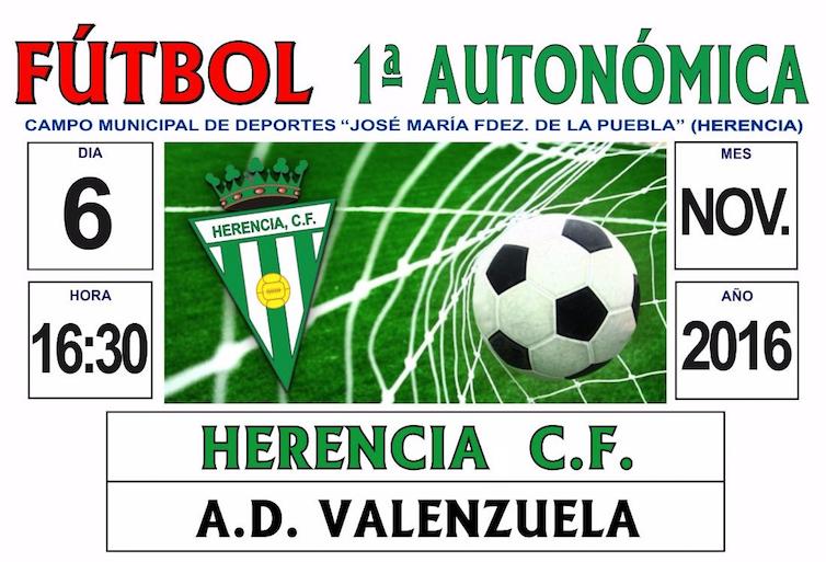 Partido de fútbol entre Herencia CF – A.D. Valenzuela el 6 de noviembre 1