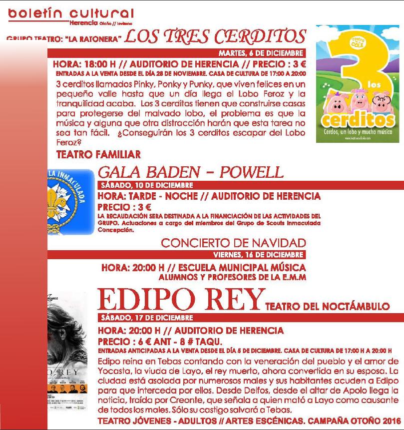 boletin cultura herencia 3 - Actividades de entretenimiento y ocio Cultural de Herencia