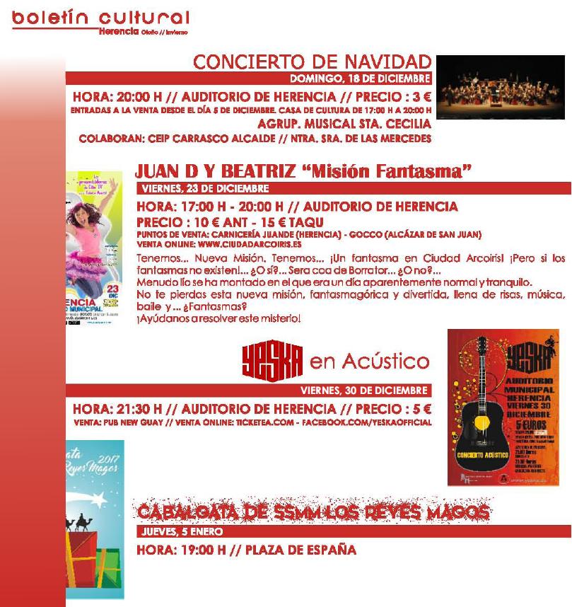 boletin cultura herencia 4 - Actividades de entretenimiento y ocio Cultural de Herencia