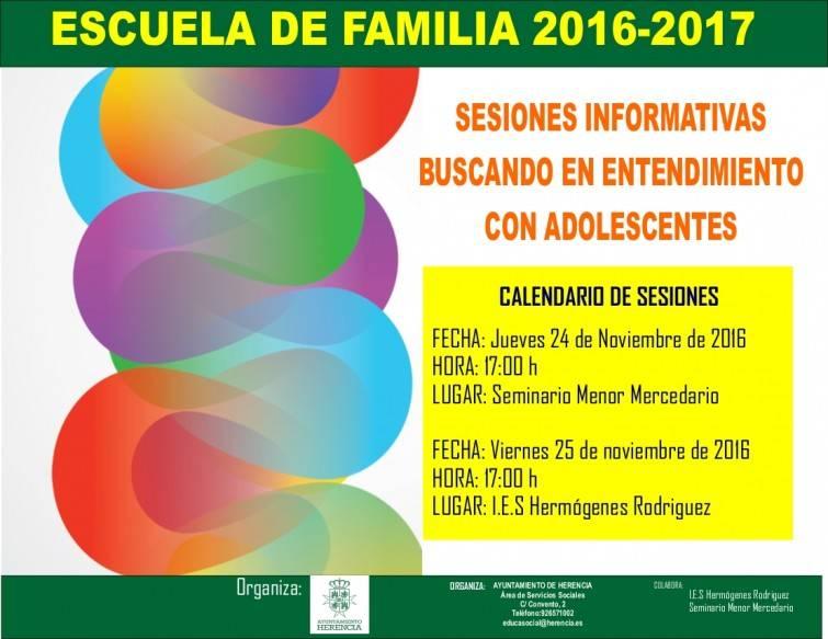 Escuela de Familia: Buscando el entendimiento con los adolescentes 1
