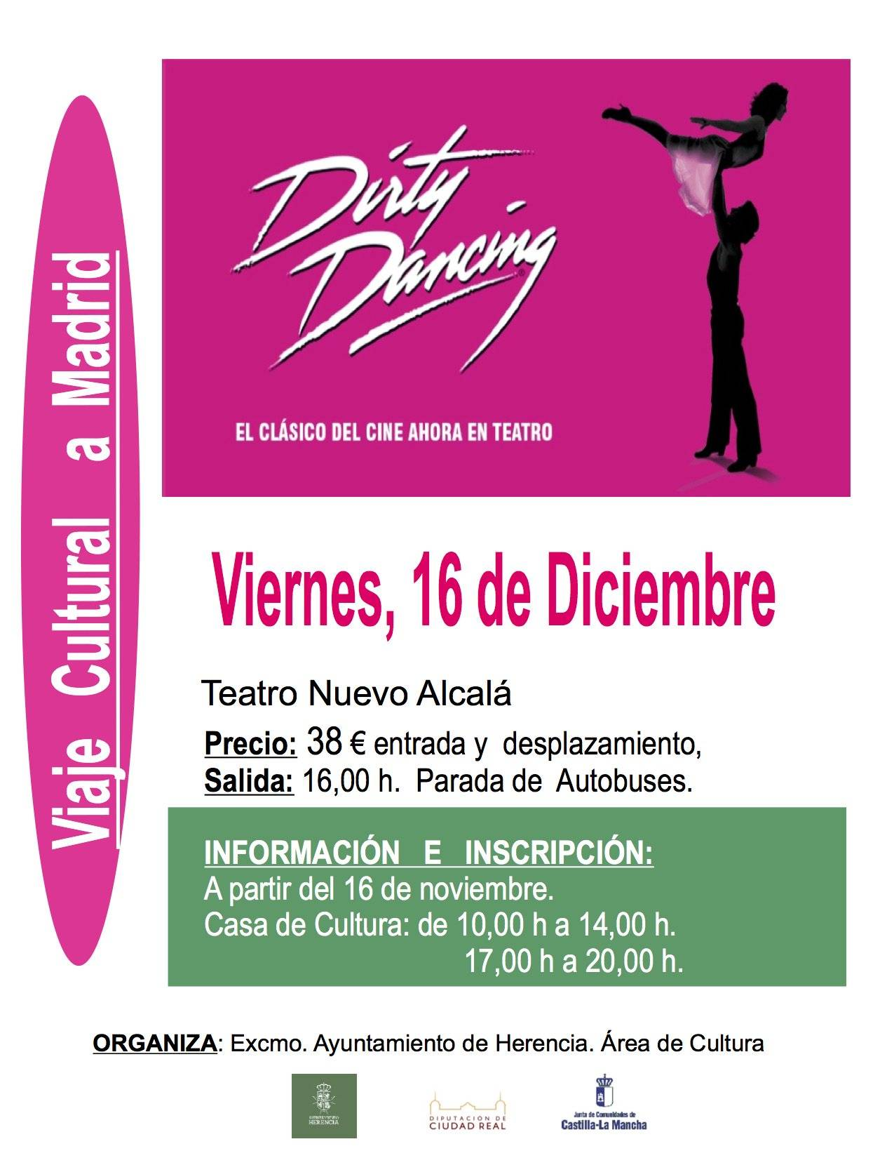 cartel del viaje para ver dirty dancing - Viaje cultural a Madrid para la obra de teatro Dirty Dancing