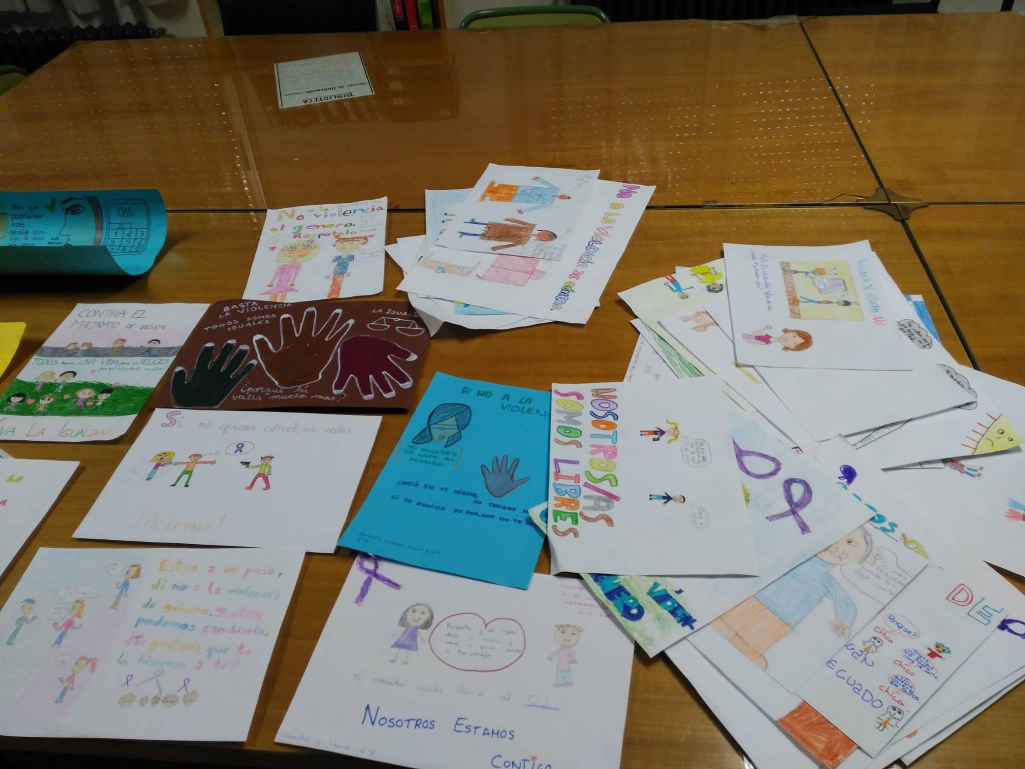 dibujos y esloganes contra la violencia de genero en ceip casrrasco alcalde - Concurso de dibujos y/o eslóganes contra la violencia de género del CEIP Carrasco Alcalde