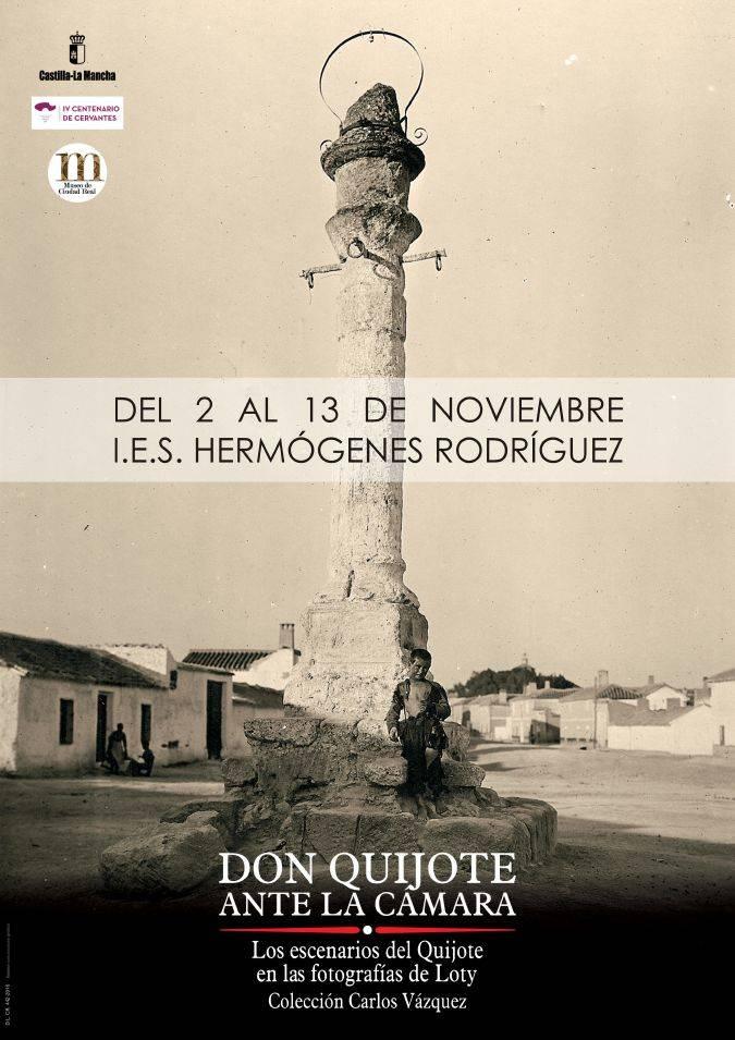 """Cartel de la exposición """"Don Quijote ante la cámara"""""""