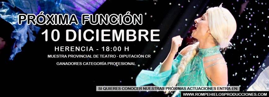 frozical en herencia - Frozical, el reino helado de Frozen el 10 de diciembre en Herencia