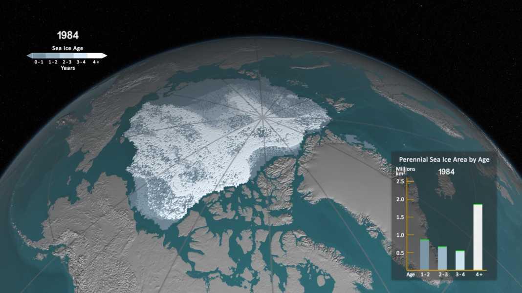 Hielo en el Océano Ártico en 1984