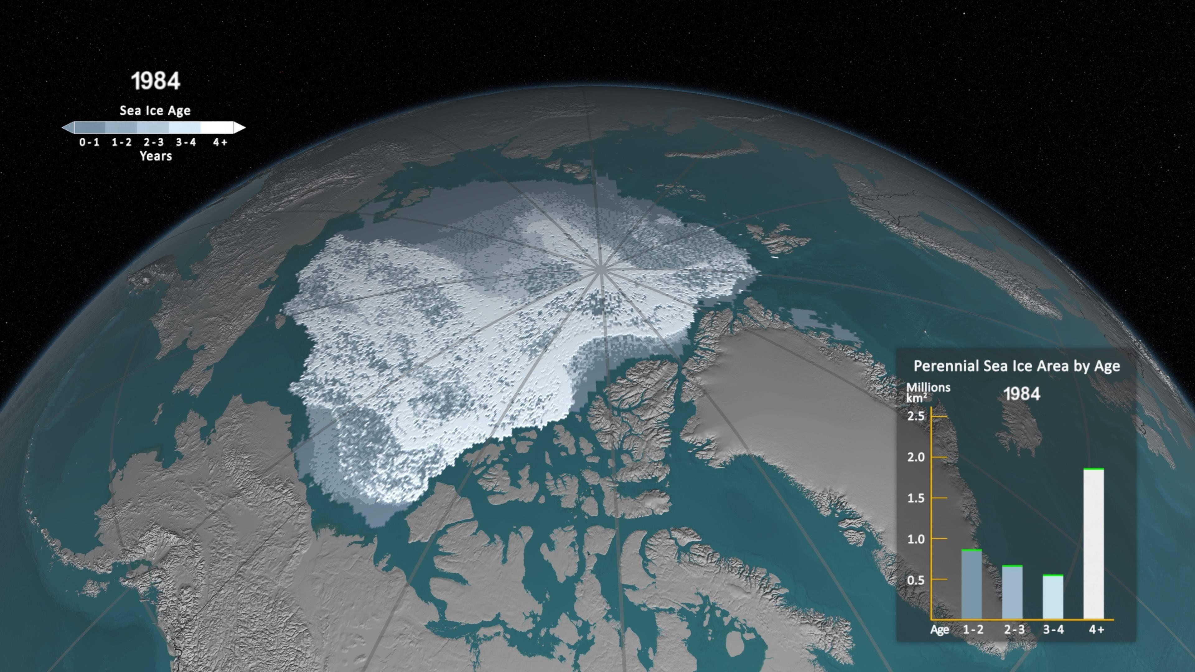 hielo en el oceano artico en 1984 - El Océano Ártico está perdiendo todo su hielo desde 1984