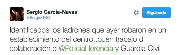 identificados ladrones twitter - Identificados ladrones que robaron en un establecimiento del centro de Herencia