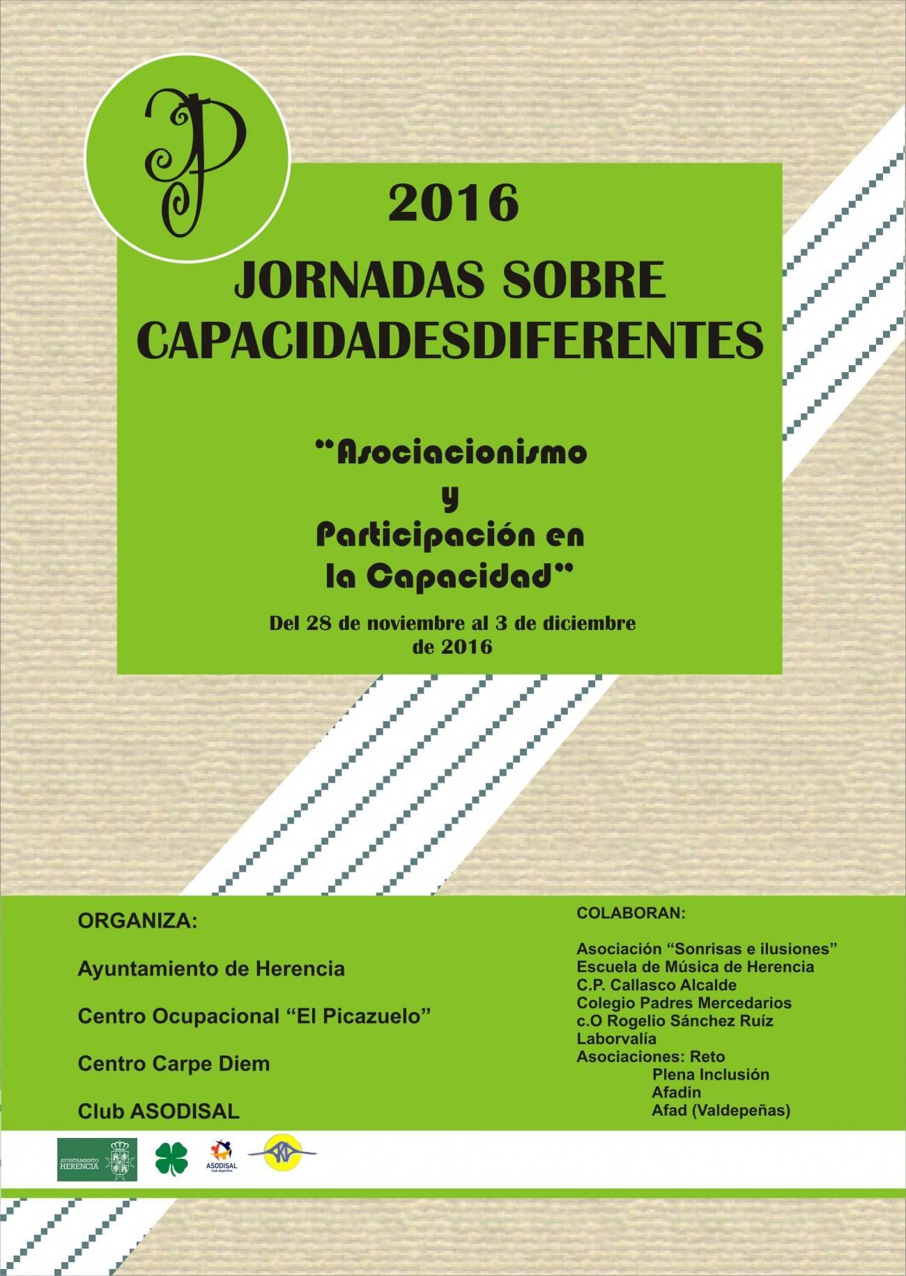 jornadas sobre capacidades diferentes en herencia - Jornadas sobre capacidades diferentes 2016 en Herencia