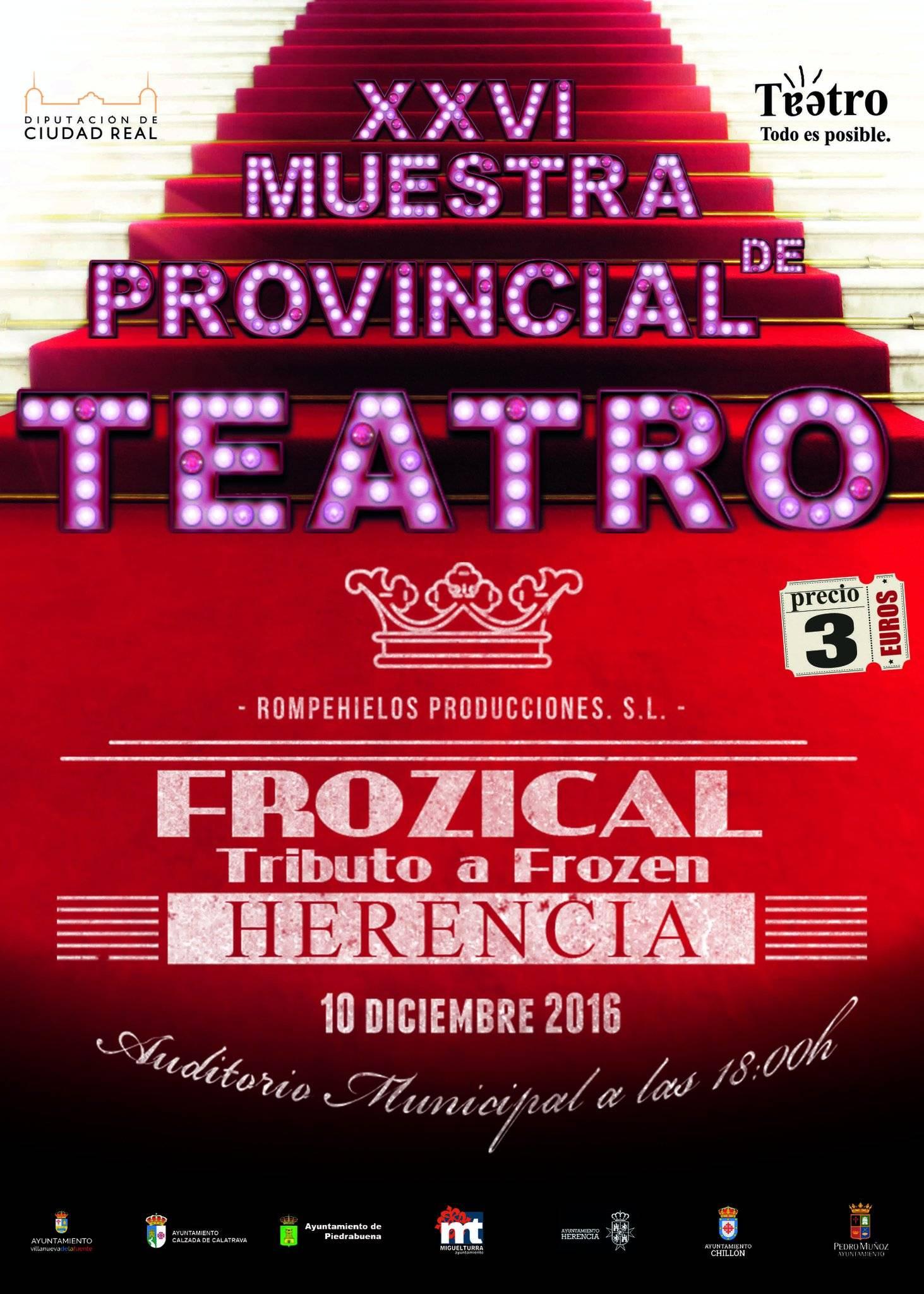 muestra de teatro con frozical frozen en herencia - Frozical, el reino helado de Frozen el 10 de diciembre en Herencia