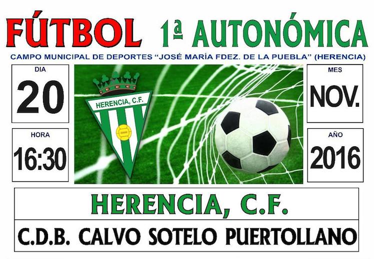 Partido de fútbol entre Herencia C.F. - C.D.B. Calvo Sotelo Puertollano 1