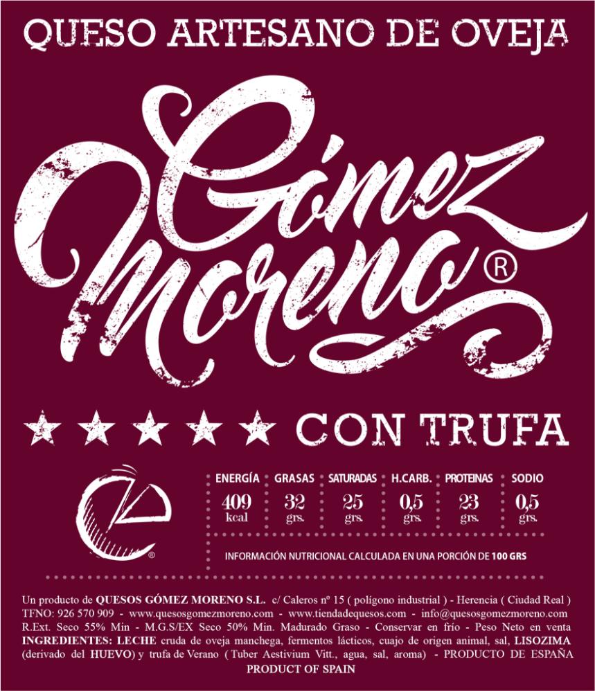 El queso con trufa de Gómez Moreno recibe un bronce en el World Cheese Awards 1