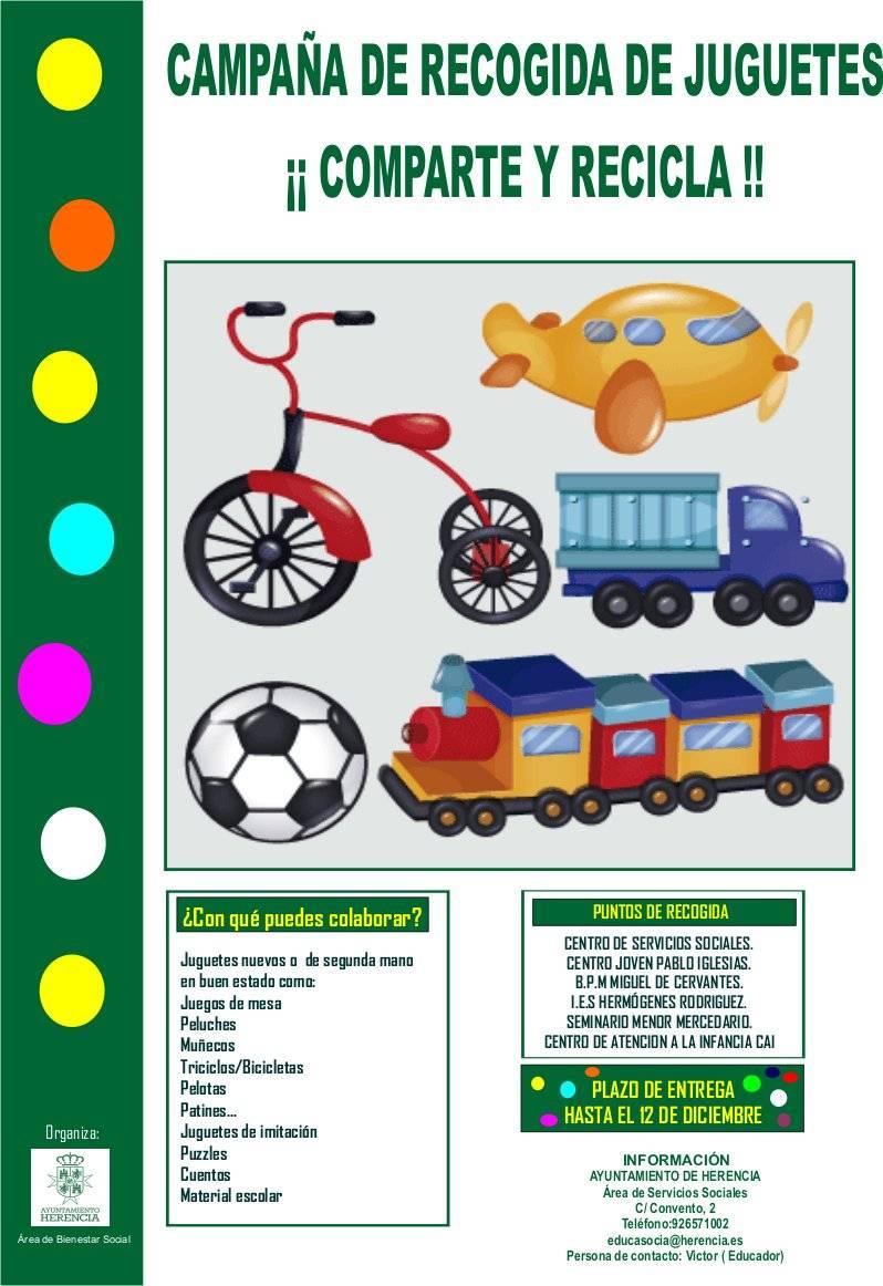 recogida de juguetes comparte y recicla - Campaña de Recogida de Juguetes: Comparte y Recicla