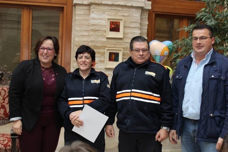 Carmen Olmedo Proteccion Civil comarca de La Mancha 3 - La Junta entrega en Herencia material de asistencia a siete agrupaciones de Protección Civil