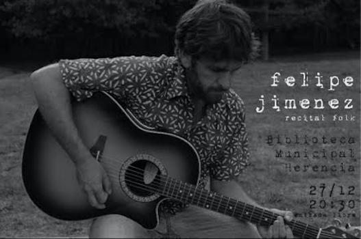 Felipe Jimenz concierto - Felipe Jiménez presenta su recital folk en la biblioteca municipal