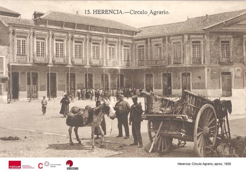 """Herencia Circulo Agrario hacia 1920 30 - Imágenes de Herencia en la exposición """"La provincia de Ciudad Real en la memoria fotográfica"""""""