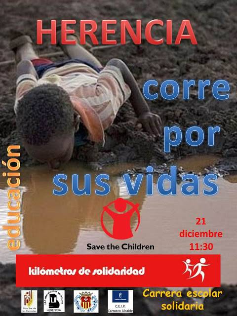 Herencia corre kilometros de solidaridad - Los centros escolares de Herencia se unen en una carrera solidaria