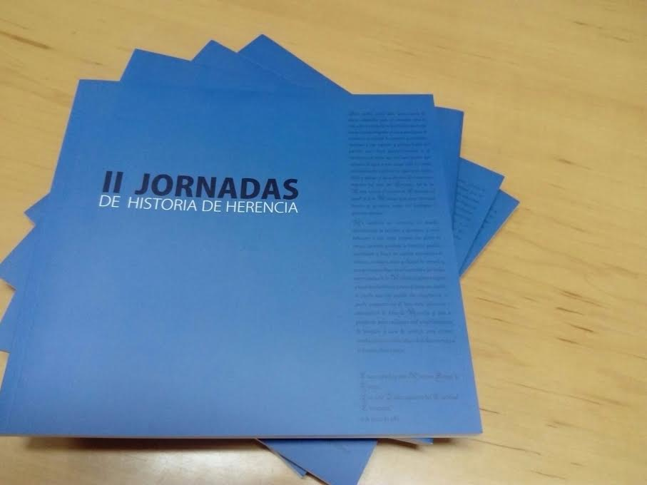 Libro II Jornadas de Historia de Herencia - A la venta el libro de las terceras jornadas de historia de Herencia