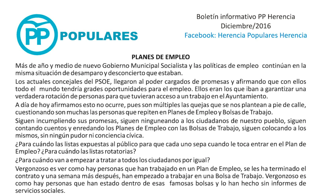 boletin informatico partido popular diciembre 2016 1068x651 - Boletín Informativo del PP de Herencia. Diciembre 2016