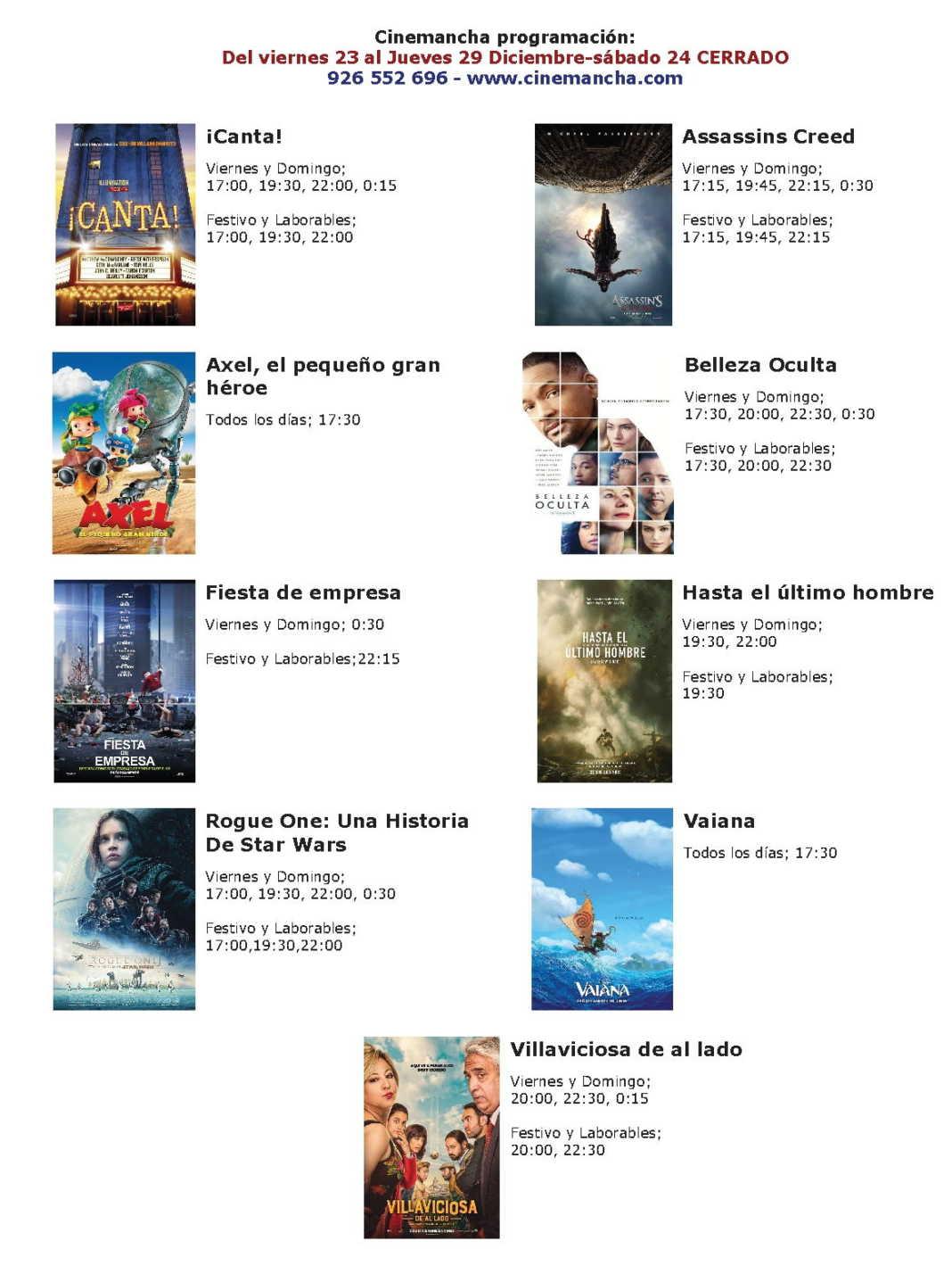 cartelera de multicines cinemancha del 23 al 29 de diciembre 1068x1428 - Cartelera Cinemancha del 23 al 29 de diciembre