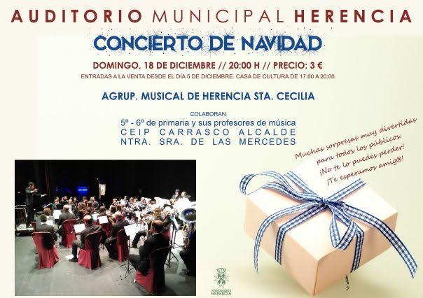 concierto de navidad de la agrupacion musical santa cecilia de herencia - Concierto de Navidad de la agrupación musical Santa Cecilia