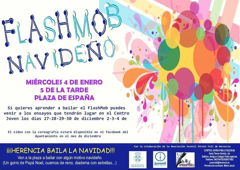 flashmob navidenio de Herencia - Juventud y Street Full preparan un flashmob navideño