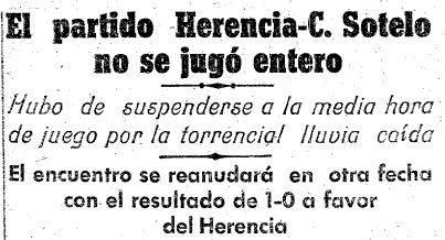 lluvia - El Herencia C. F. (III) (de la tercera división)