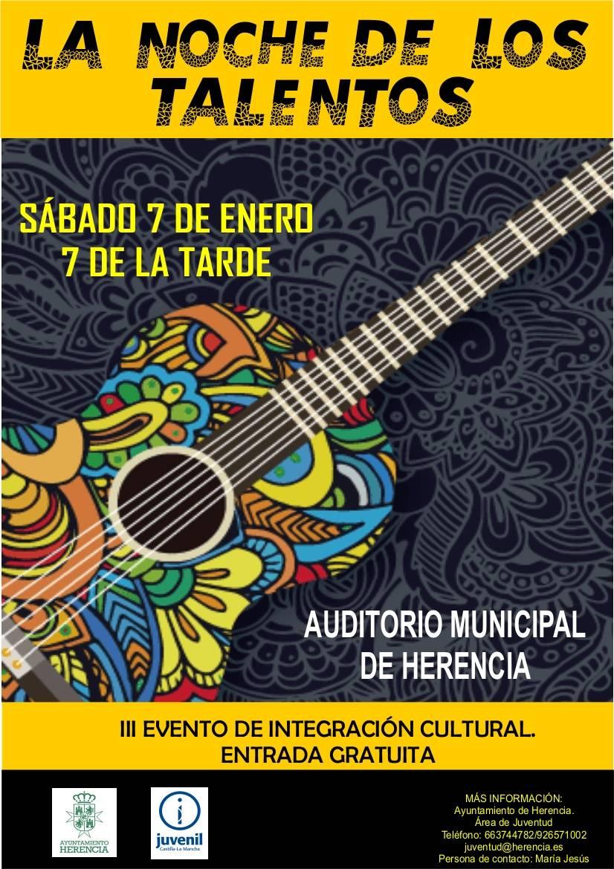 """tercera noche de los talentos - Tercera edición de """"La Noche de los Talentos"""" en Herencia"""