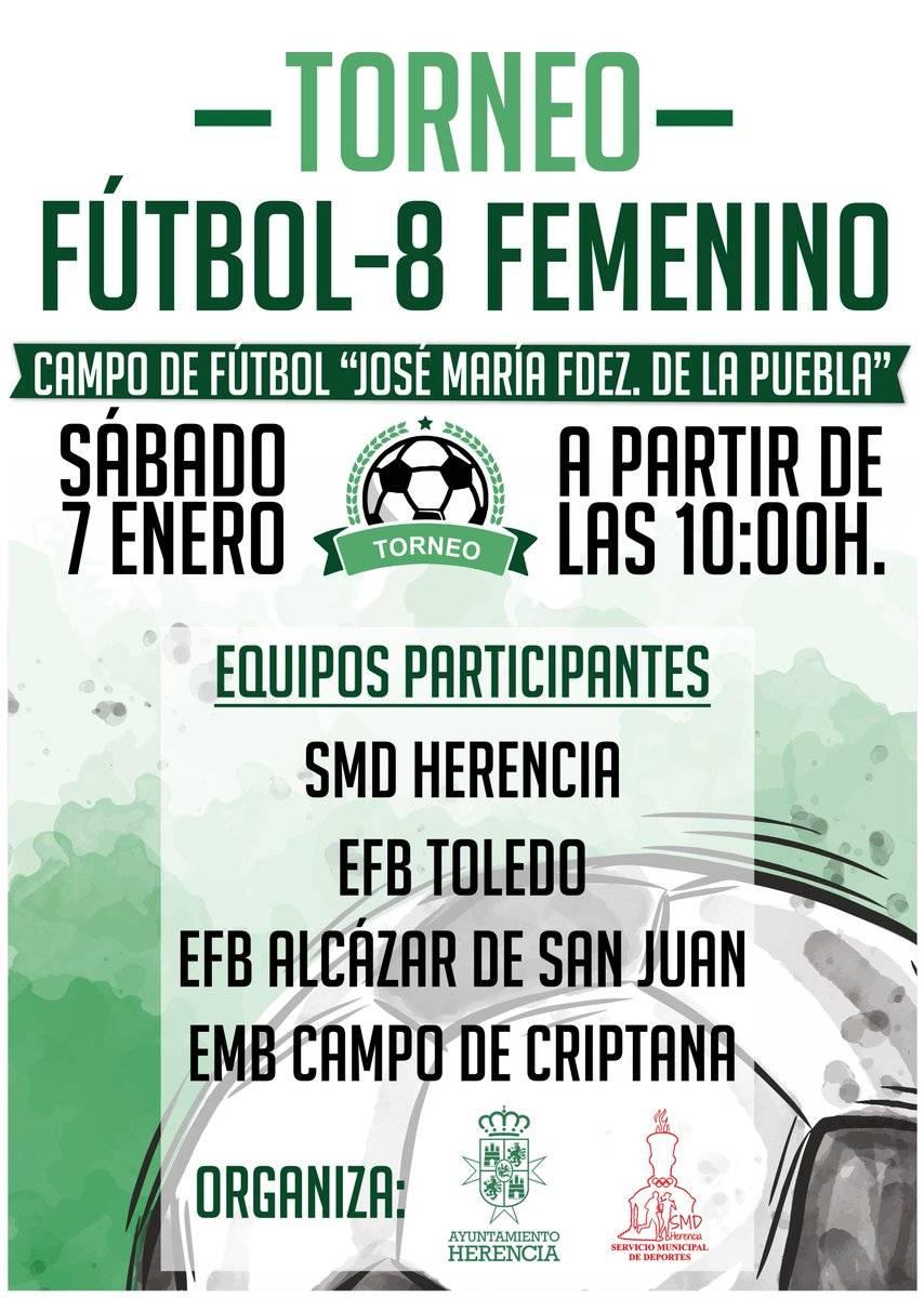 Torneo Fútbol-8 Femenino próximo 7 de enero 1