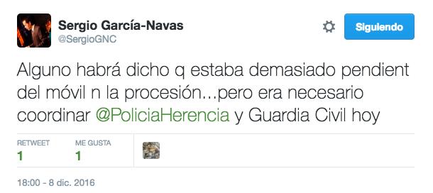 twitter alcalde de herencia coordina policia y guardia civil - Importante operación antidroga en Herencia