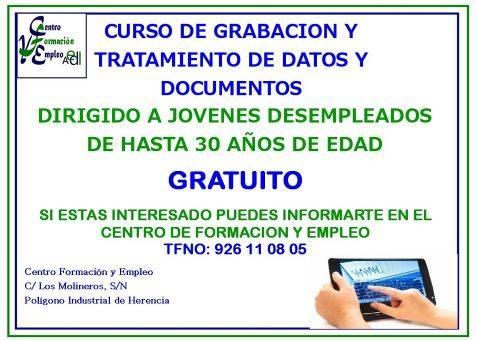 """Curso de """"Operación de grabación y tratamiento de datos y documentos"""" 1"""