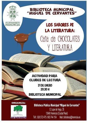 Cata chocolate y literatura herencia afammer - Afammer realizará una singular cata de literatura y chocolates en Herencia
