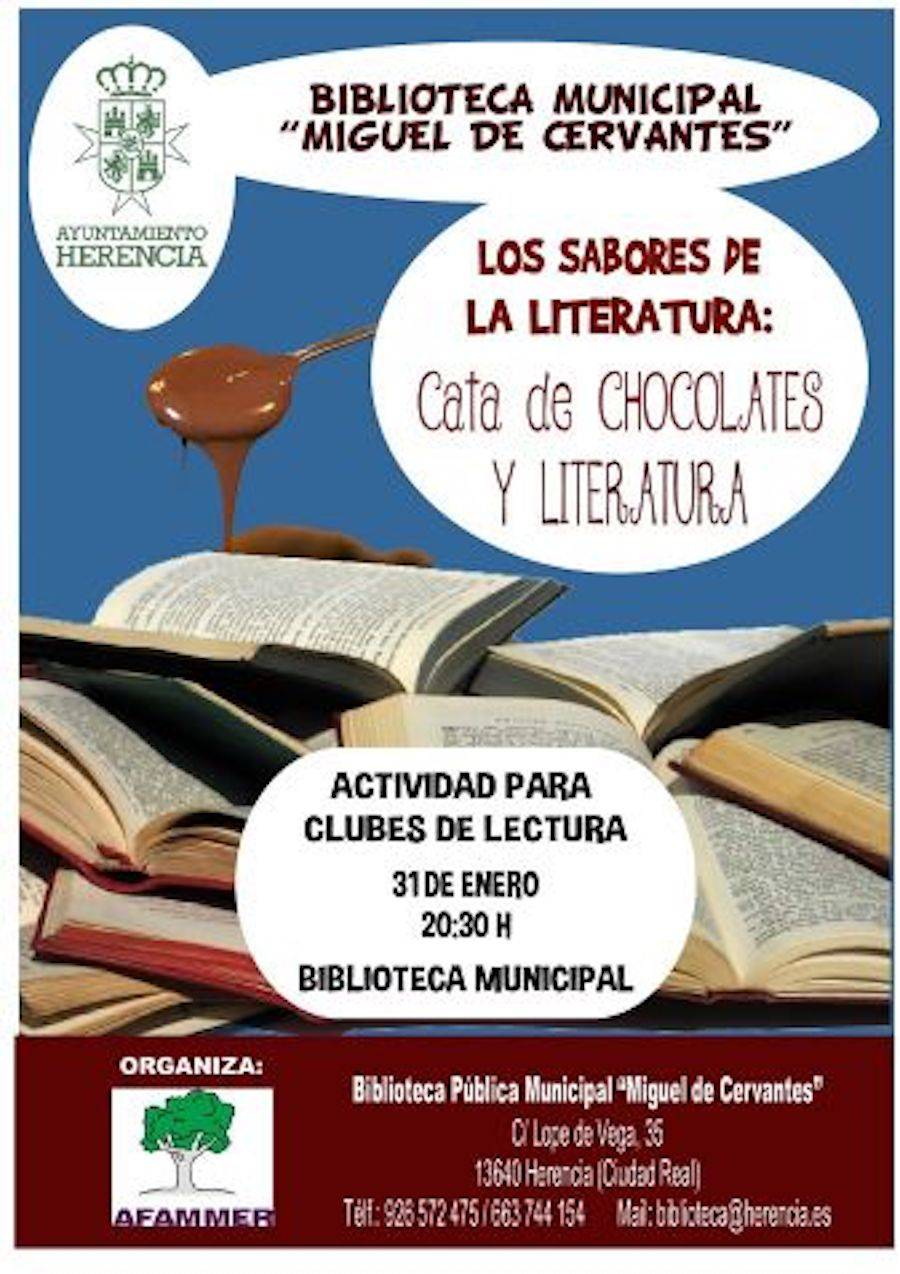 Afammer realizará una singular cata de literatura y chocolates en Herencia 1