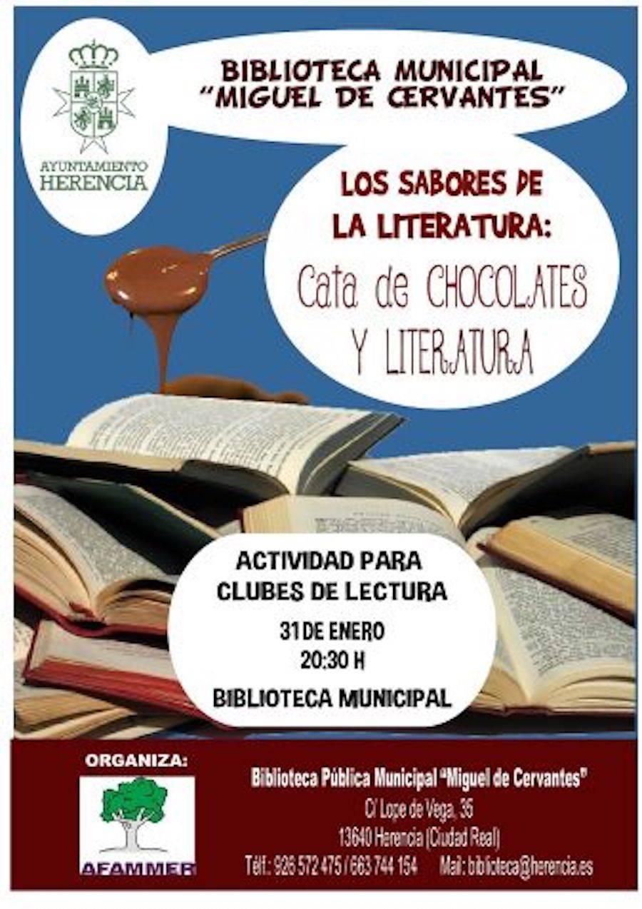 Cata chocolate y literatura herencia afammer2 - Afammer realizará una singular cata de literatura y chocolates en Herencia