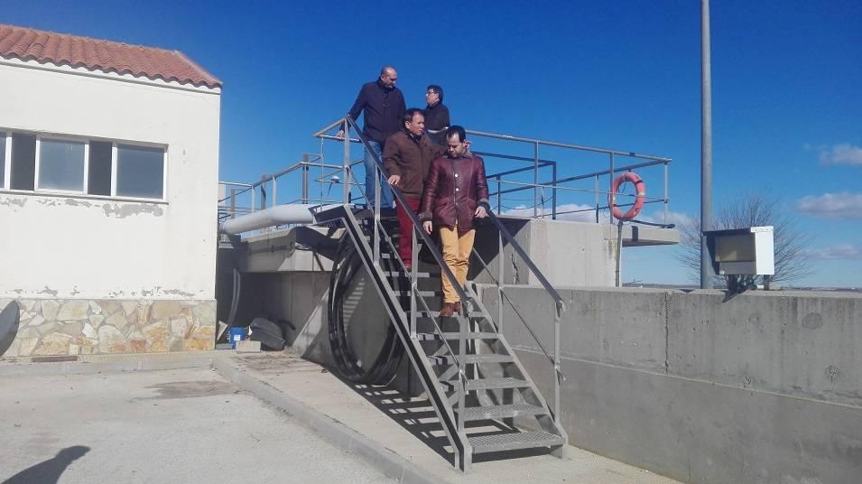 El director de la Agencia del Agua de Castilla La Mancha visita Herencia1 - Mejoras en el ciclo del agua aprovechando las obras en calles de Herencia