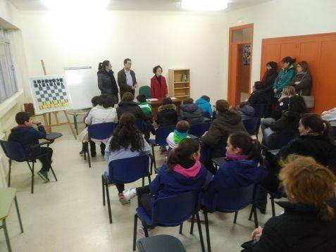 Presentación del programa de ajedrez en Herencia