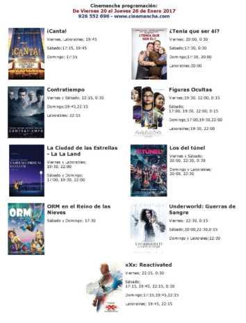 Programación Cinemancha del 20 al 26 de enero
