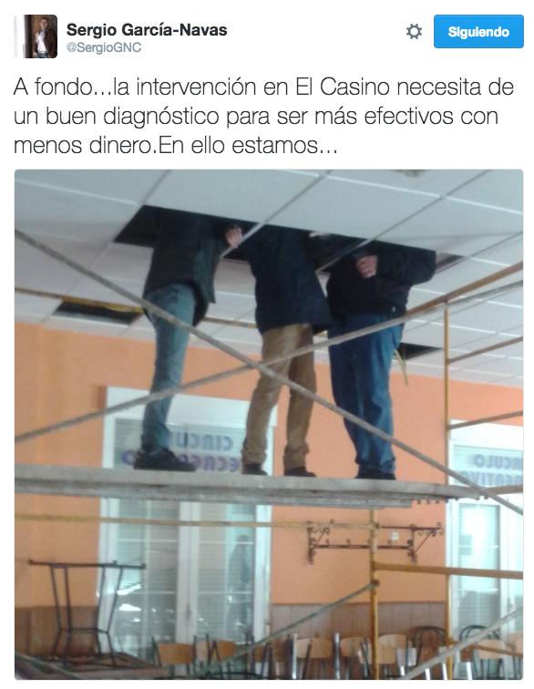 el casino twitter alcalde herencia - El Casino ya esta bajo diagnóstico para su reforma