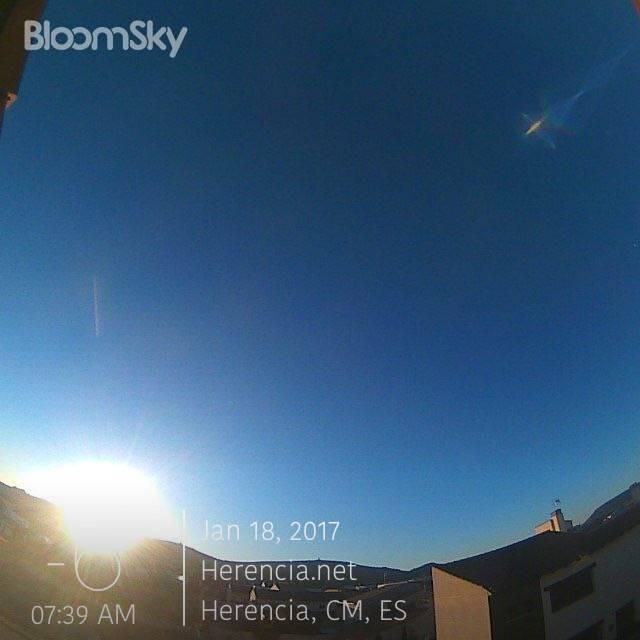 Herencia (Ciudad Real) con -6º esta mañana en la ola de frío. Foto de nuestra estación meteorológica.