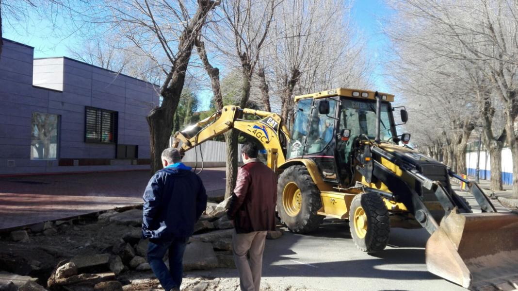 obras en avenida tierno galvan 1 1068x599 - Siguen las obras para mejorar la accesibilidad en la Avenida Tierno Galván