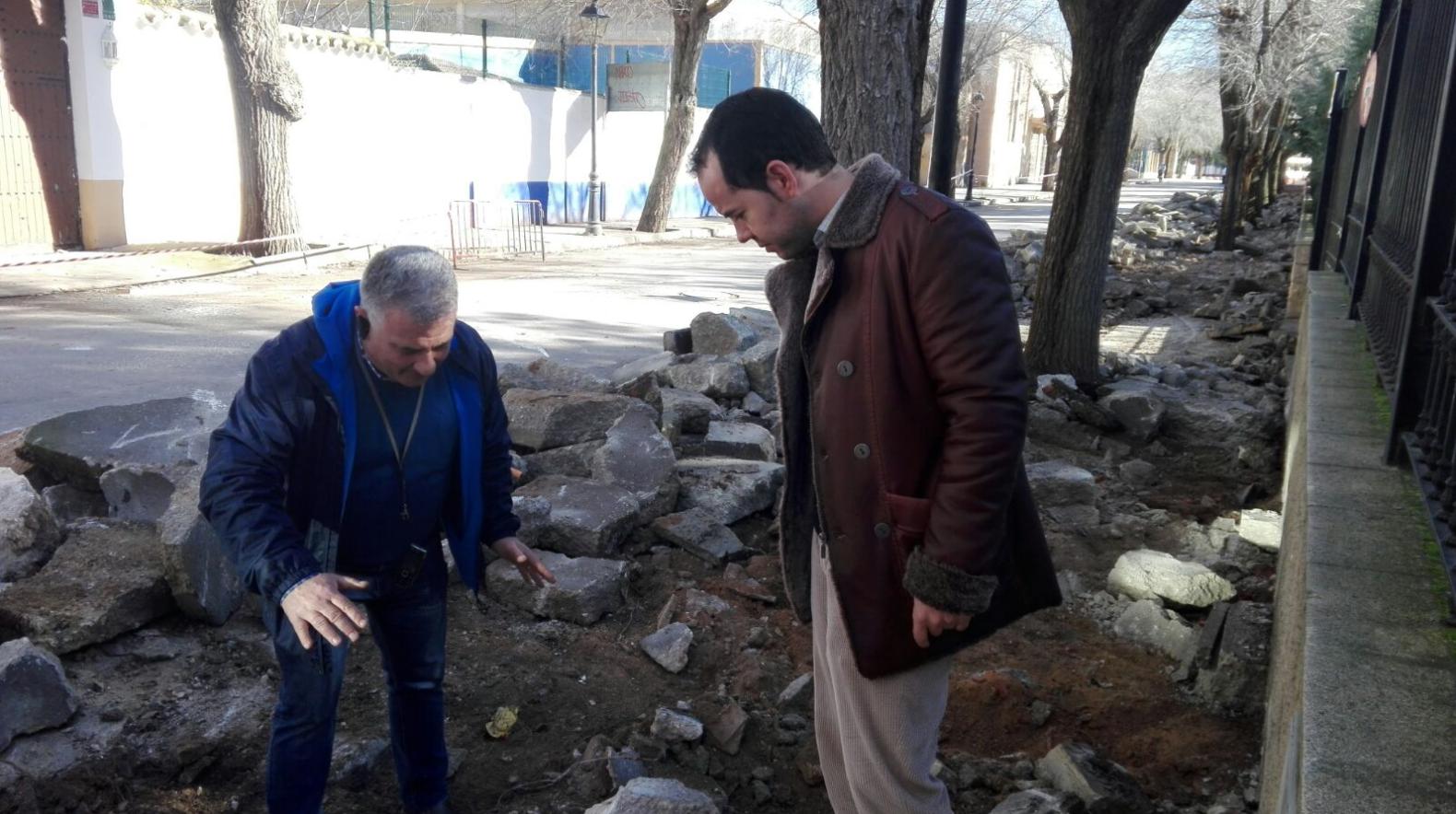 obras en avenida tierno galvan 2 - Siguen las obras para mejorar la accesibilidad en la Avenida Tierno Galván