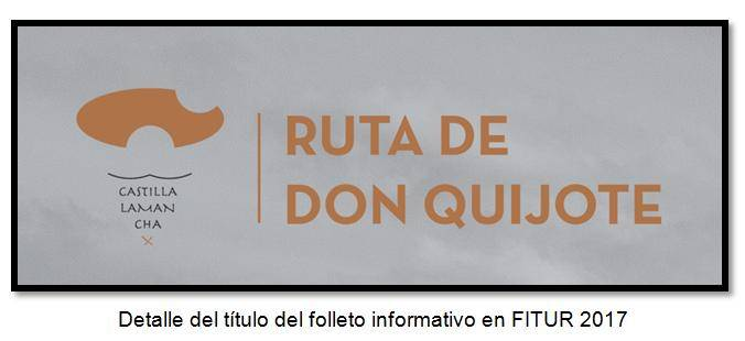 Detalle del título del folleto informativo en FITUR 2017