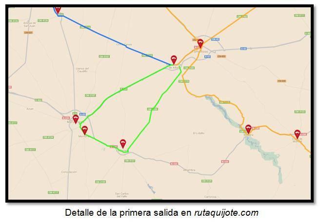 Detalle de la primera salida en rutaquijote.com