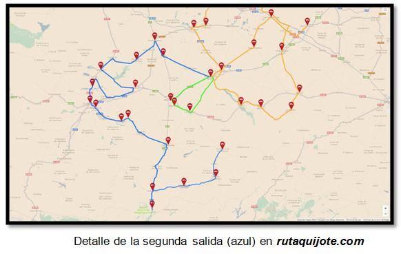Detalle de la segunda salida (azul) en rutaquijote.com