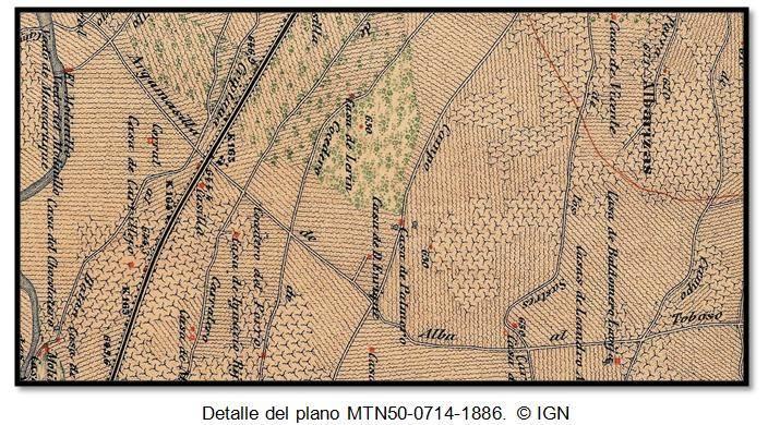Detalle del plano MTN50-0714-1886. © IGN